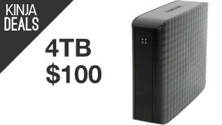 Illustration for article titled 4TB External Drive for $100. Yes, Really.