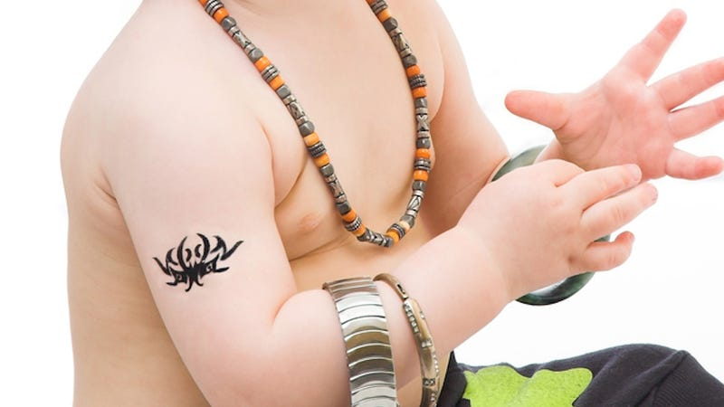 Illustration for article titled Temporary Tattoos Will Help You Recognize Your Blank-Faced Children