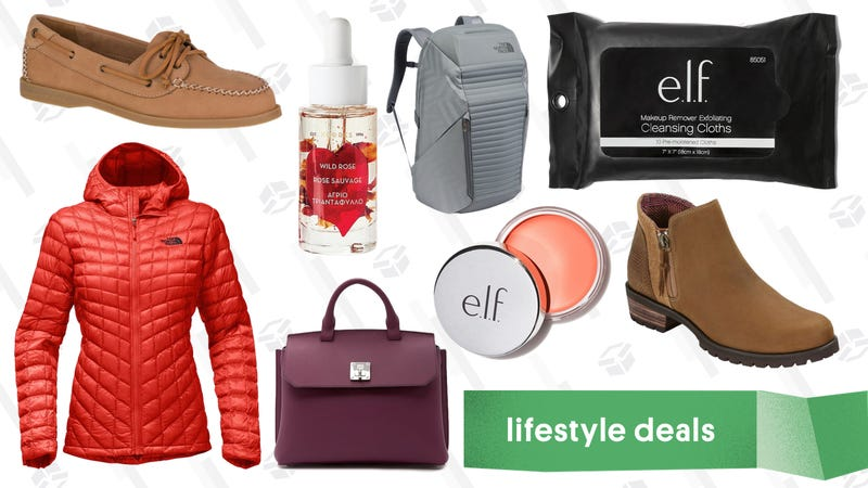 Illustration for article titled Thursday's Best Lifestyle Deals: The North Face, Sperry, e.l.f. Cosmetics, and More