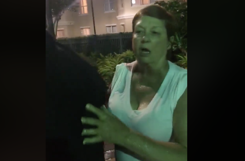 This unidentified white woman called Covey Banks and her family the n-word.