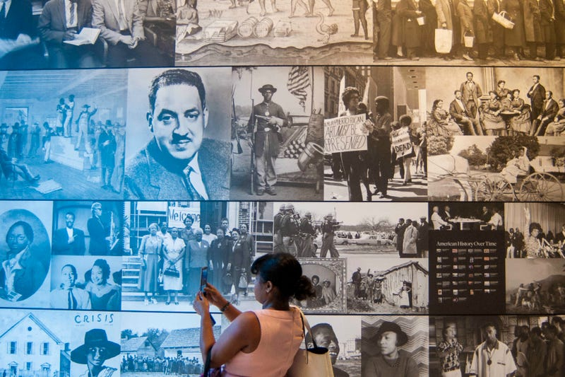 An exhibit is displayed during a press preview at the Smithsonian's National Museum of African American History and Culture in Washington, D.C., on Sept. 14, 2016. PRESTON KERES/AFP/Getty Images