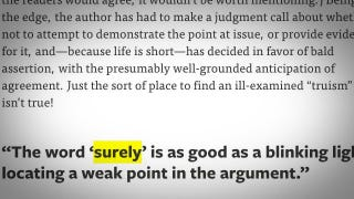 """Illustration for article titled Spot a Weak Argument by Looking for the Word """"Surely"""""""