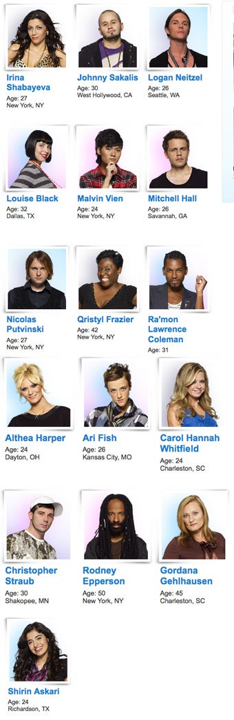 Illustration for article titled Project Runway Season 6 Designers Revealed!