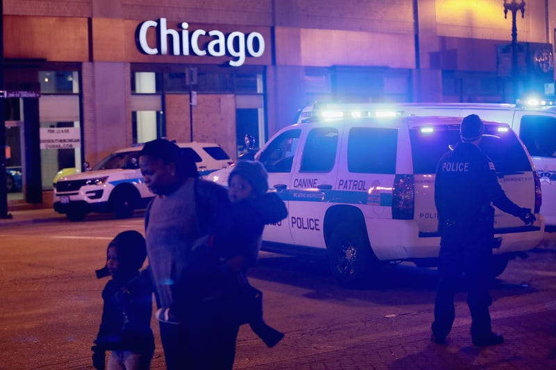 Police secure the scene near Mercy Hospital after a gunman opened fire on November 19, 2018 in Chicago, Illinois. The gunman is reportedly dead after shooting at least three people including a police officer.