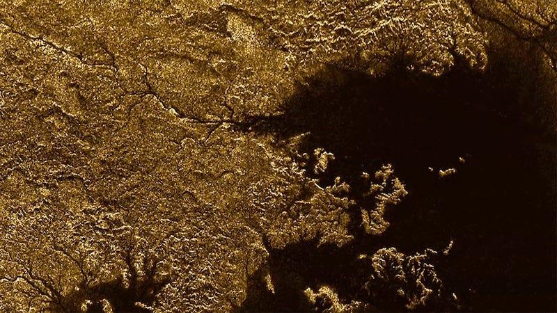 Canyons on Titan (Image: NASA/JPL-Caltech/ASI)