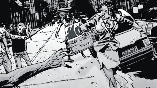 Illustration for article titled Michonne's gory Walking Dead backstory revealed in the latest issue of Playboy