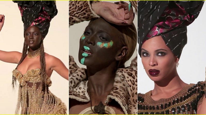"""Illustration for article titled French Magazine: Beyoncé's Makeup Inspired By """"African Rituals"""""""