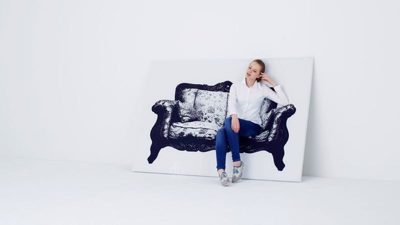 Illustration for article titled Your Ass Makes These Chair Paintings Come to Life