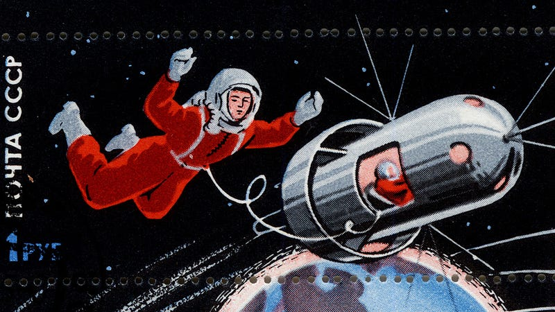 Illustration for article titled The Soviet Union's space-themed stamps will make you love Cosmonauts