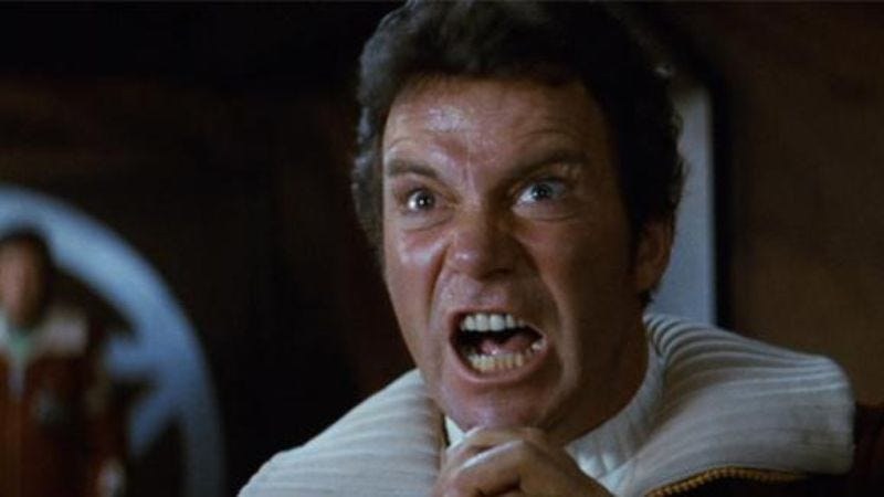 Illustration for article titled William Shatner doesn't care for you kids and your Star Trek 3 rumors