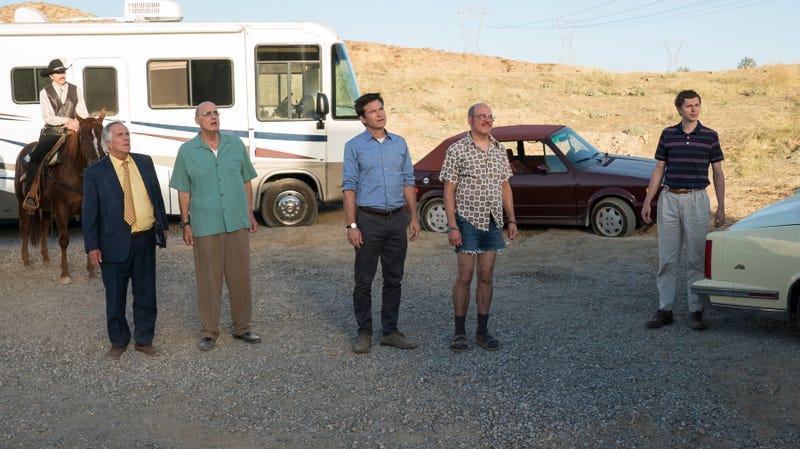 Henry Winkler (left), Jeffrey Tambor, Jason Bateman, David Cross, Michael Cera