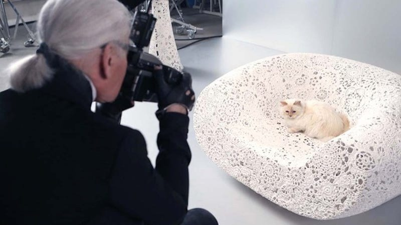 Illustration for article titled Karl Lagerfeld's Cat Has Her Own Makeup Capsule Collection Now