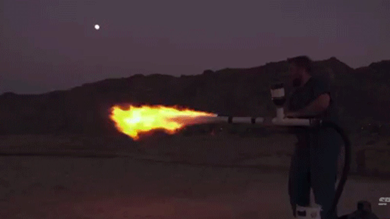Poop-powered flamethrower can shoot out gigantic 30-foot flames