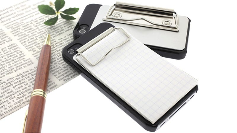 Illustration for article titled Binder Clip Case Boosts Your iPhone's Note Taking Capabilities