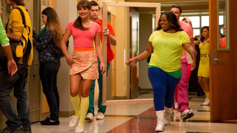 Lea Michele, Chord Overstreet, Amber Riley, Mark Salling (Fox)
