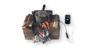 Illustration for article titled Harness a Cooking Pot's Energy and Charge Your Phone While Camping