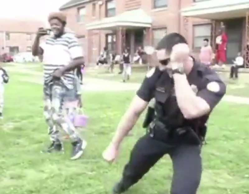 Illustration for article titled 'Stanky Leg' Dancing Police Officer Goes Viral, but Some Aren't Buying It