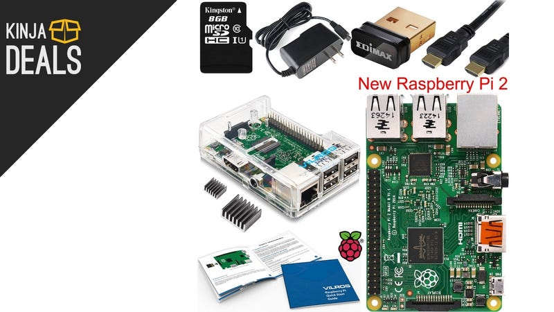 Illustration for article titled Get Hacking On This Raspberry Pi 2 Starter Kit For Under $60 Today