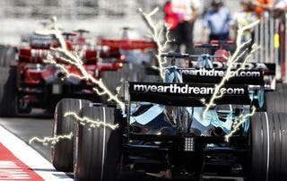Illustration for article titled F1 cars may go electric-only in pits
