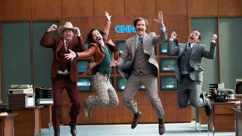 Illustration for article titled Steve Carell is down for another Anchorman movie