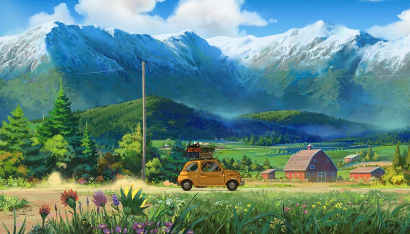 Illustration for article titled A Very Studio Ghibli Road Trip