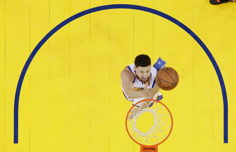 Klay Thompson in Game 6. Via AP.