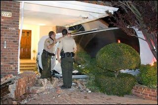 Illustration for article titled BMW M3 Plowed Into House By Idiot Teen Driver