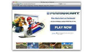 Illustration for article titled No, You Can't Play Mario Kart On Facebook, Despite Scammers' Claims