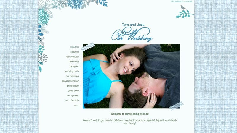 Couple Thoughtfully Puts Up Wedding Website For Friends To Mock
