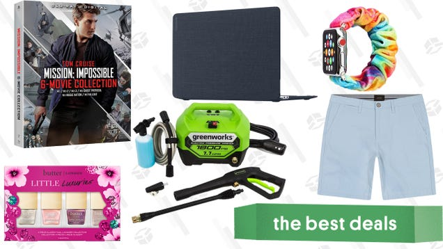 Saturday s Best Deals: Men s Shorts at JACHS NY, Mission: Impossible 6-Movie Collection, MacBook Laptop Covers, and More