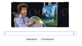 Illustration for article titled Finally, Google Doodles Bob Ross, America's Favorite Doodler