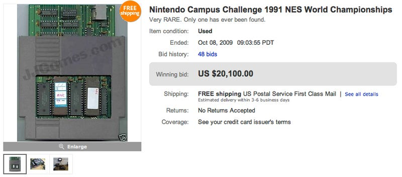 Illustration for article titled Strange, One-of-a-Kind Nintendo Cartridge Fetches Highest Price Yet