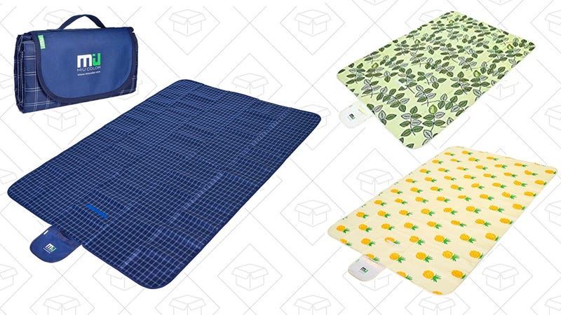 MIU COLOR Large Waterproof Outdoor Picnic Blanket (Navy Plaid) | $15 | Amazon | Use code J4692ZE4MIU COLOR Large Waterproof Outdoor Picnic Blanket (Pineapple) | $12 | Amazon | Use code FRLHLDL4MIU COLOR Large Waterproof Outdoor Picnic Blanket (Green Leaves) | $19 | Amazon| Use code NADVT266