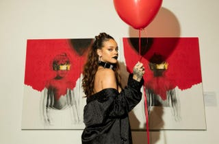Rihanna at the reveal for her eighth-album artwork at MAMA Gallery on Oct. 7, 2015, in Los AngelesChristopher Polk/Getty Images