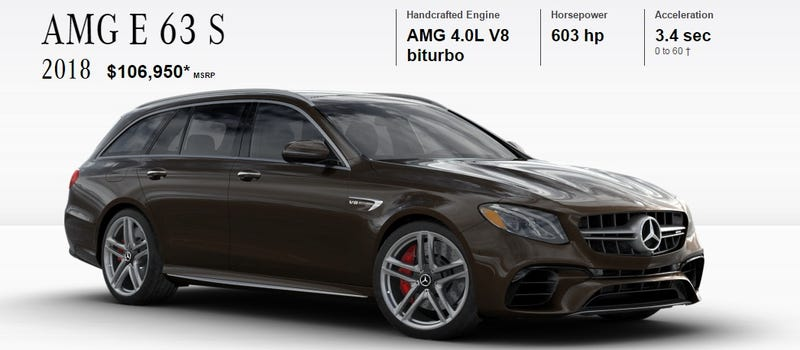 This Is It The Fastest Most Ful Wagon Available In America While Mercedes Amg E63 S May Not Have Same Allure As 1987 Hammer