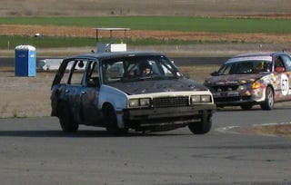 Illustration for article titled Jalopnik Commenter's Cavalier Wagon Comes In 9th At Thunderhill!