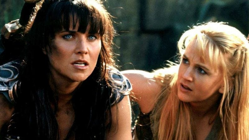 Lawless and O'Connor in Xena: Warrior Princess