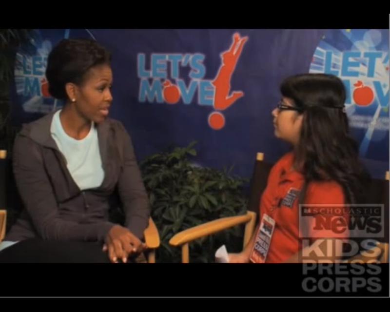 Michelle Obama and Topanga Sena (Scholastic)