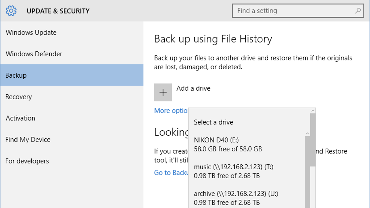 How to Back Up Your Computer Automatically with Windows 10's Built