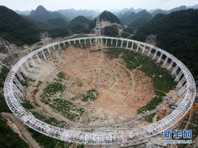 Illustration for article titled China is Building an Absolutely Massive Radio Telescope