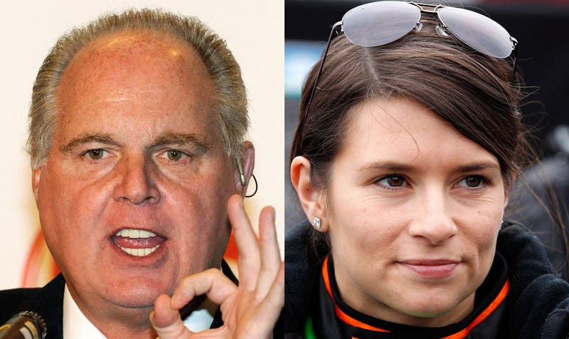 Illustration for article titled Rush Limbaugh Calls Out Danica Patrick: 'What Do You Expect From a Woman Driver?'