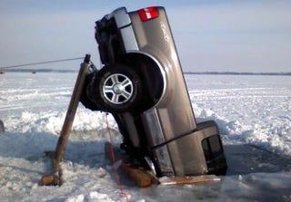 Illustration for article titled Minnesotan Pulls Sunken Trucks From Lakes