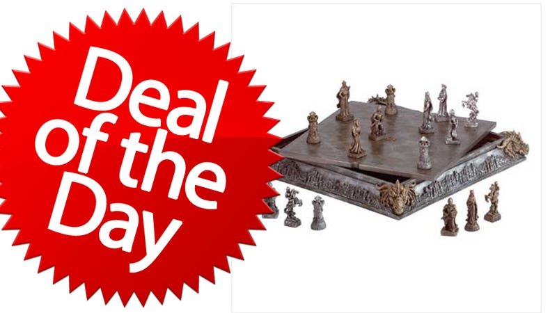 Illustration for article titled This Medieval Chess Set Is Your Bringing-It-Back Deal of the Day