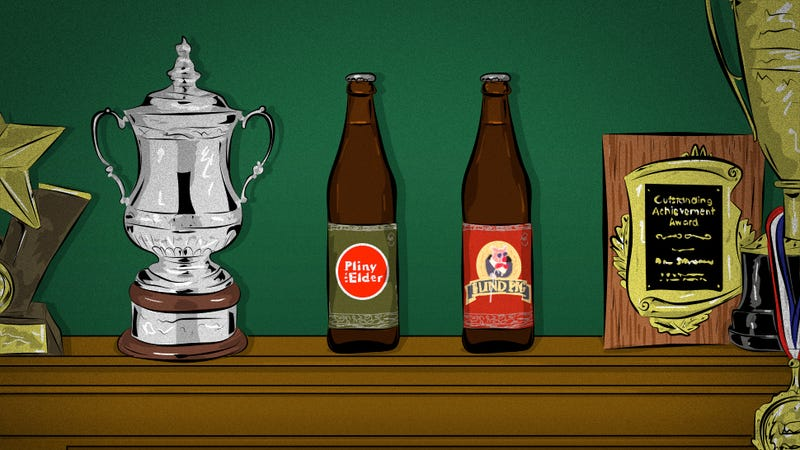 Illustration for article titled Pliny The Elder And Blind Pig: Trophy Beers Within Everyone's Grasp