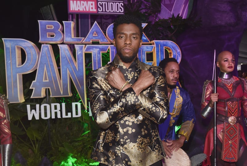Actor Chadwick Boseman at the Los Angeles World Premiere of Marvel Studios' Black Panther at Dolby Theatre on Jan. 29, 2018, in Hollywood, Calif. (Alberto E. Rodriguez/Getty Images for Disney)