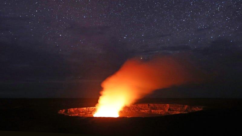 Halemaumau crater at Kilauea volcano.