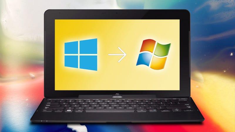 how do i downgrade to windows 7