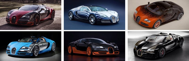 Illustration for article titled A Jalop's Guide to Special Edition Bugatti Veyrons