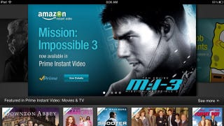Illustration for article titled Amazon Instant Video Lands on iPad As Prime Members Weep With Joy