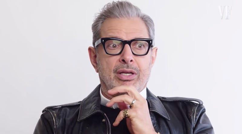 Jeff Goldblum pondering a Jurassic Park without Ian Malcolm.